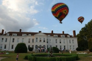 Hot Air Balloons above Gosfield Hall