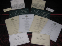 St Audries- wedding stationary