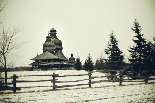 External view of St Elias church in Ukraine