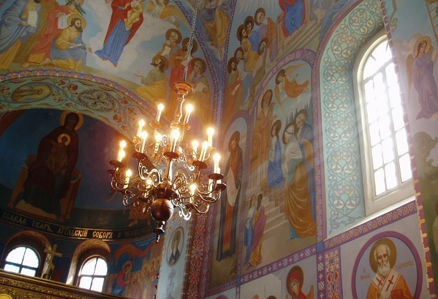 A view inside a Ukranian Church