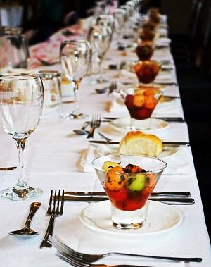 Desserts served at a wedding