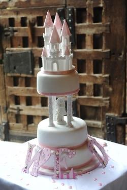 A disney-esque wedding cake