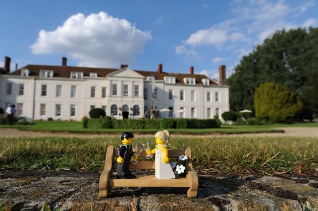 Lego bride and groom getting married