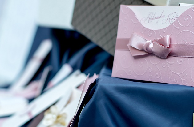 Envelope containing wedding invite