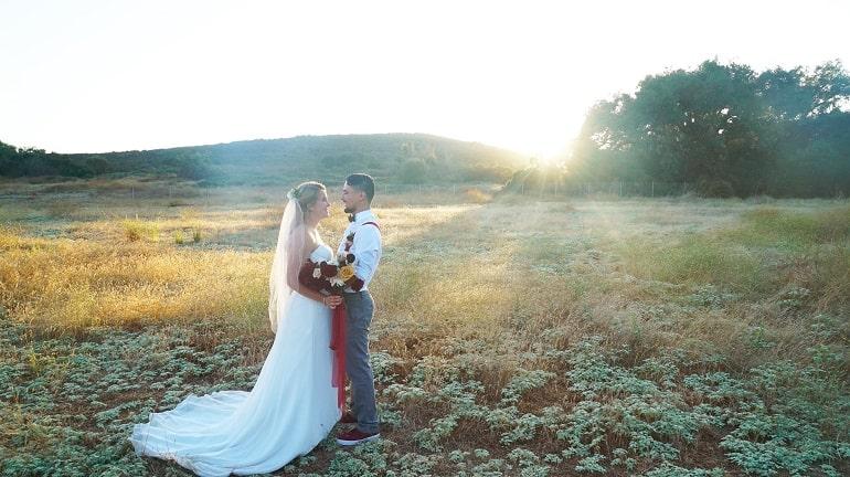 Sunrise wedding photograph